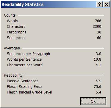readable-writing-readability-statistics